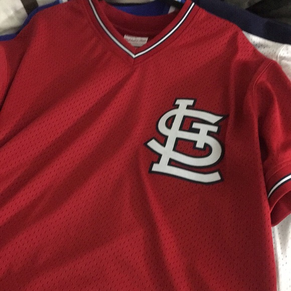 100% authentic 9a115 ebba7 St. Louis Cardinals Ozzie Smith BP Jersey